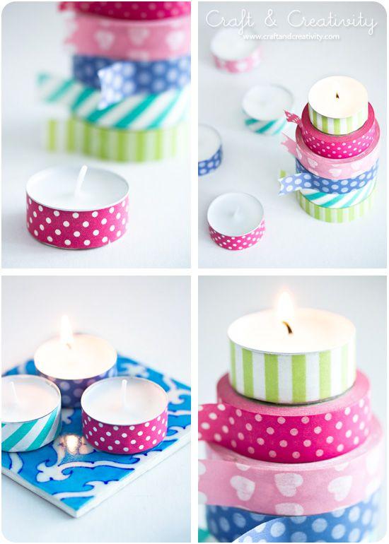 15 decoraciones de cinco minutos con cinta washi - Decoracion con washi tape ...