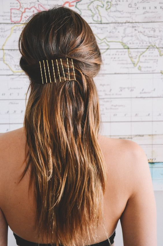 bobbypin hairstyle
