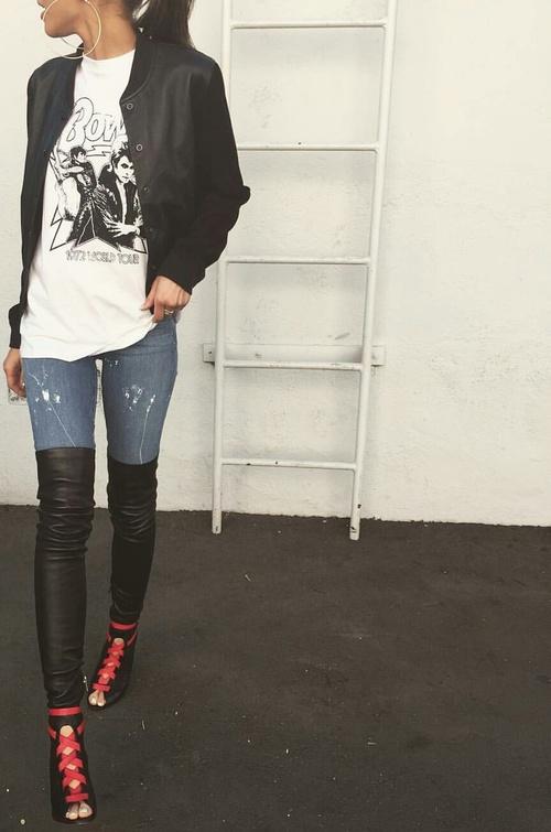 botas y jeans