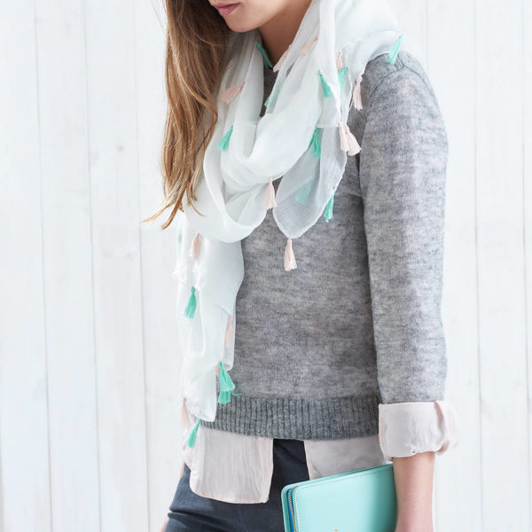 bufanda pastel personalizada