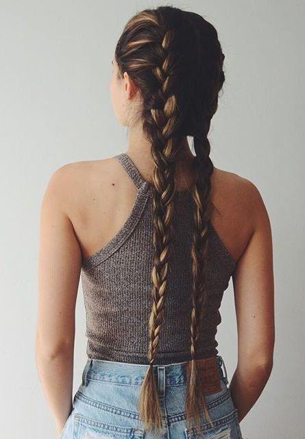 16 peinados para hacerte si tienes cabello muy largo - Chicas con trenzas ...