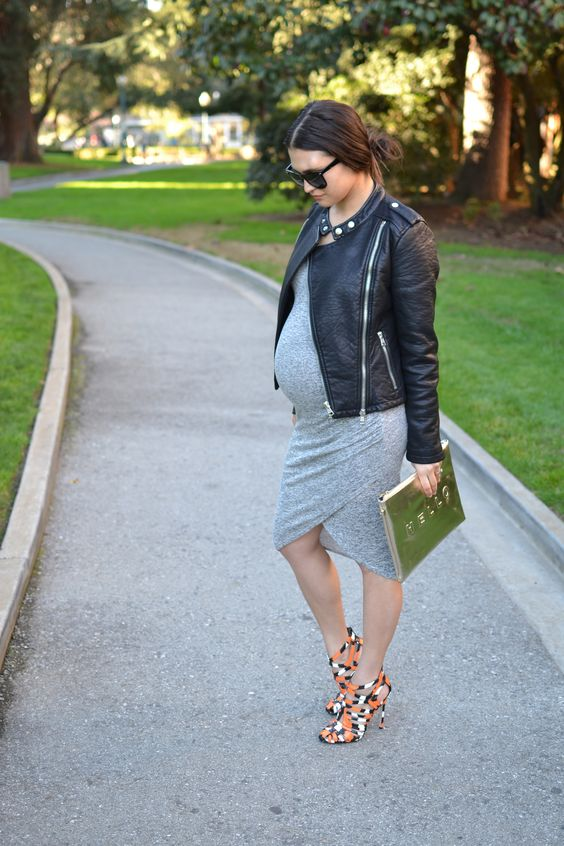 chica embarazada linda