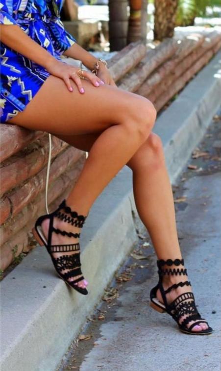 encaje sandalias