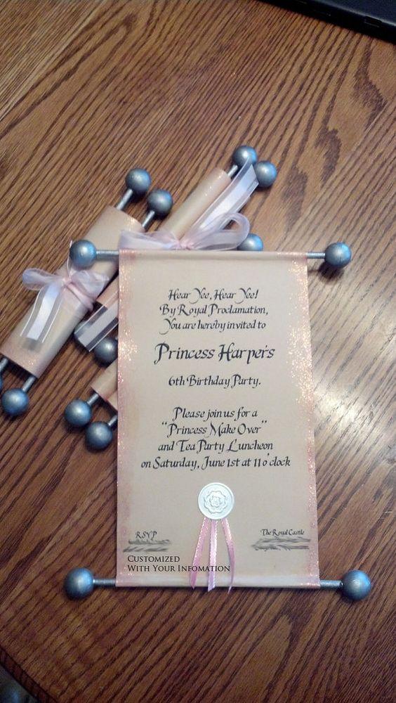 invitaciones de princesa