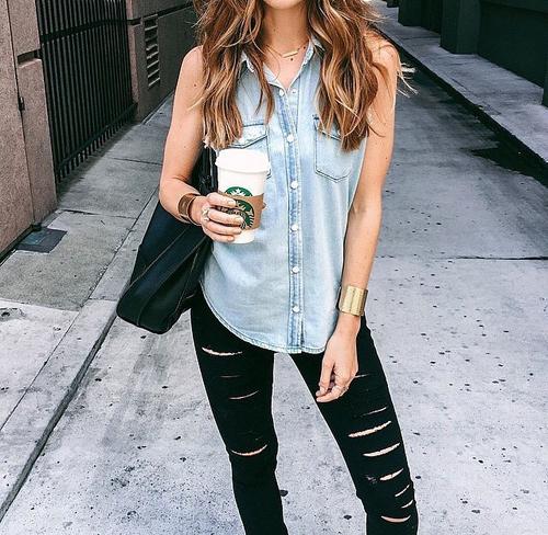 jeans y pantalones negros