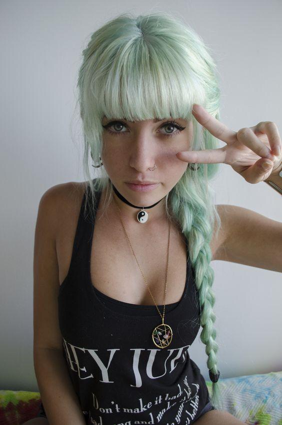 menta cabello