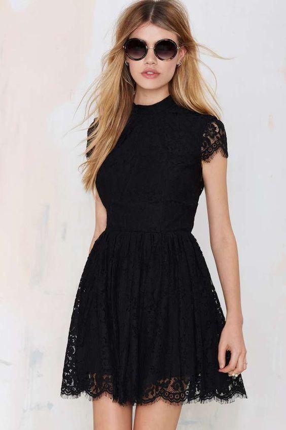 Vestidos negros cortos bonitos