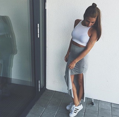 outfit con adidas