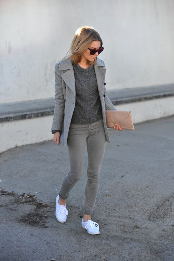 outfit trabajo gris