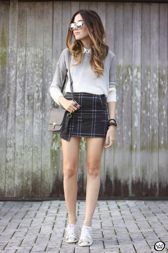 plaid skirt tennis