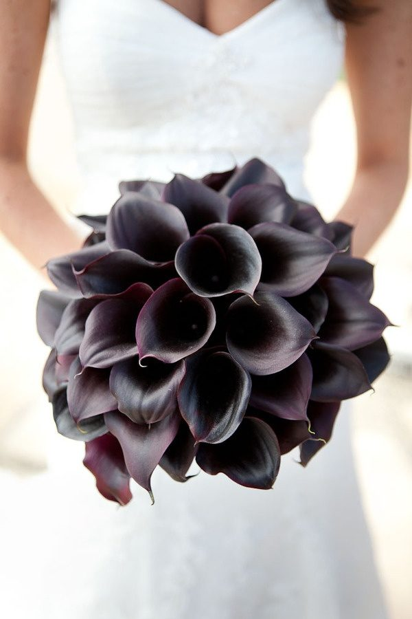 ramo de novia negro
