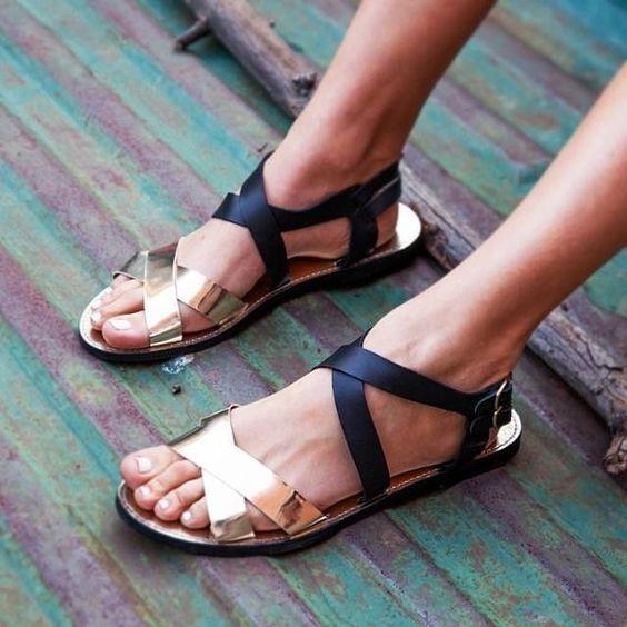 sandalias metalixas
