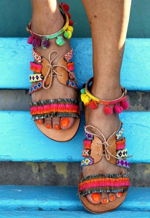 sandalias tribales