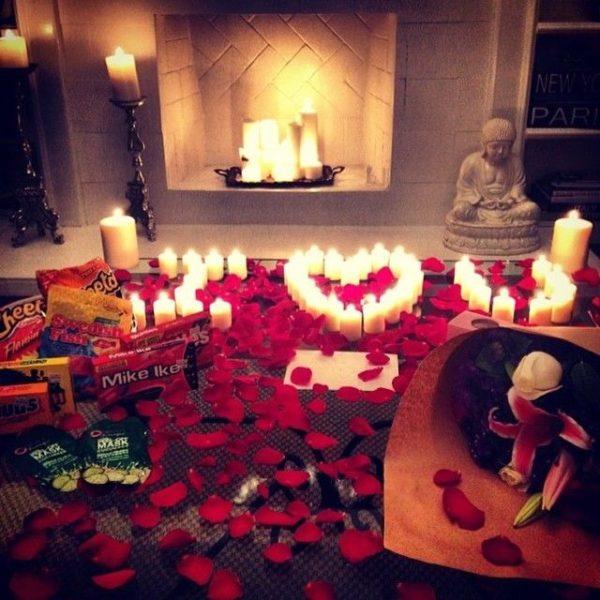 snacks y flores