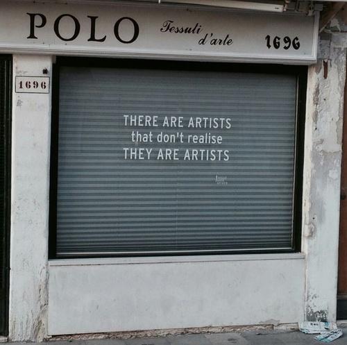 artistas que no se dan cuenta