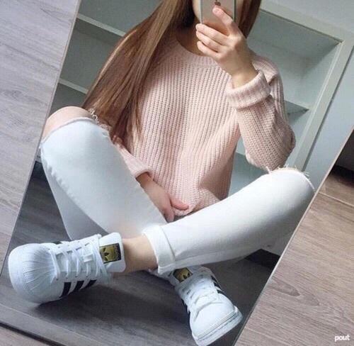 blanco con rosa outfit