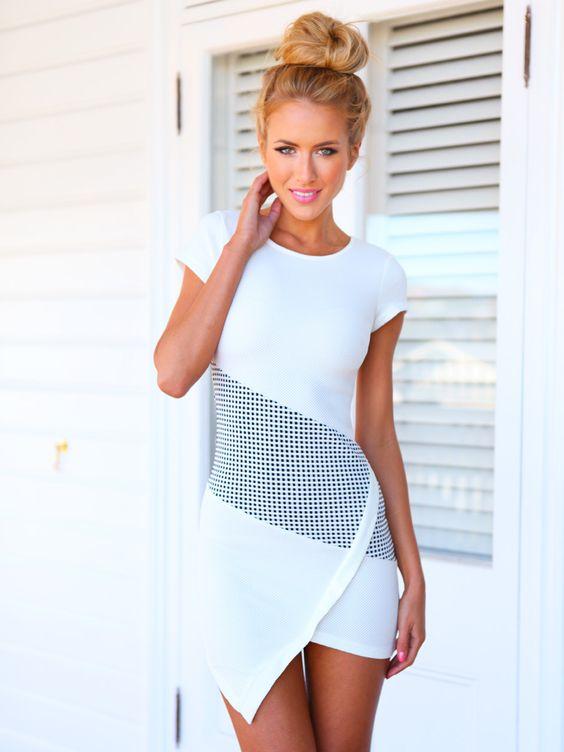 blanco vestido lindo