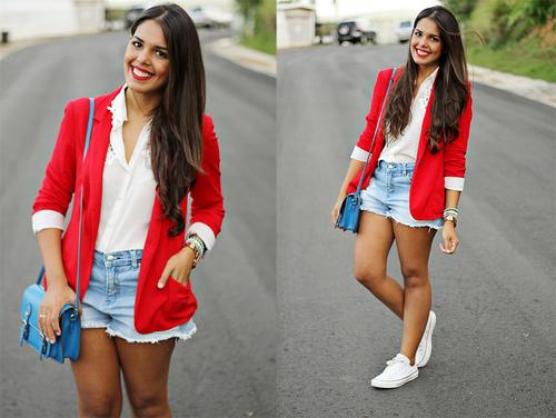 blazer con short