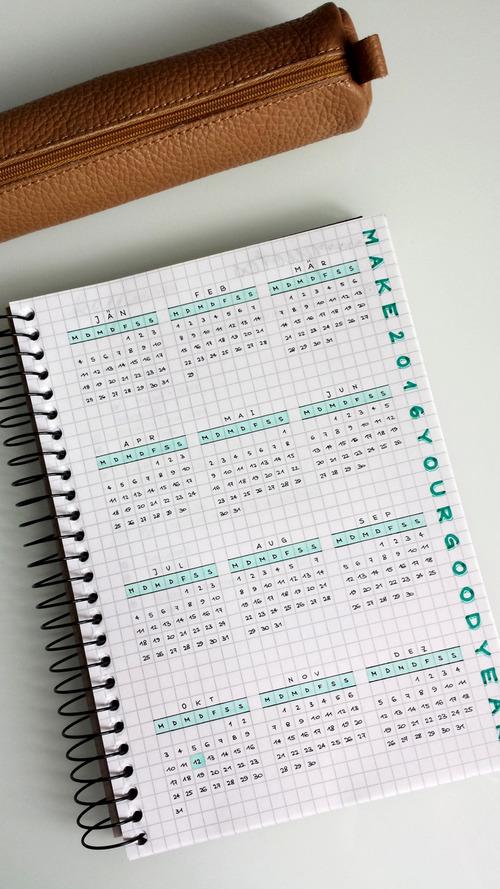 calendario ordenada