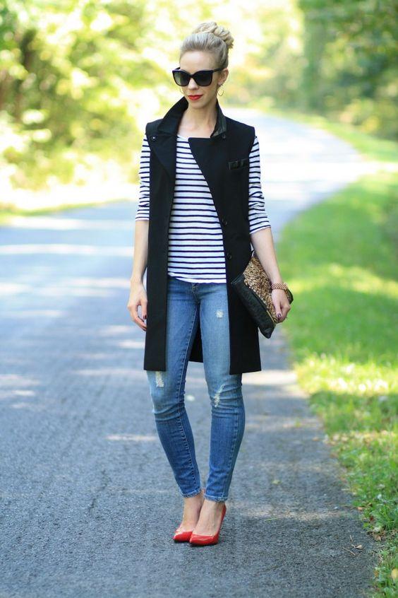 Outfits con los que te animarás a usar chalecos largos 45541439a108