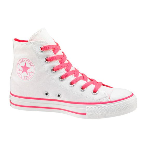 converse blanco y rosa