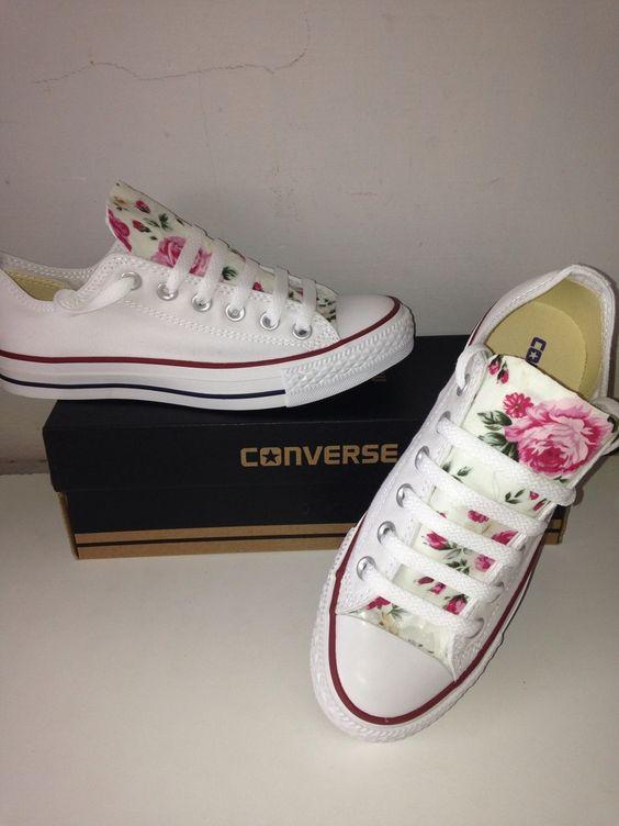 converse blancas y rosas