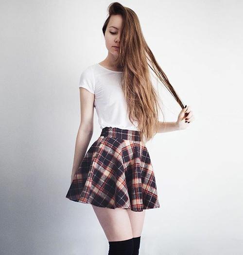 falda a