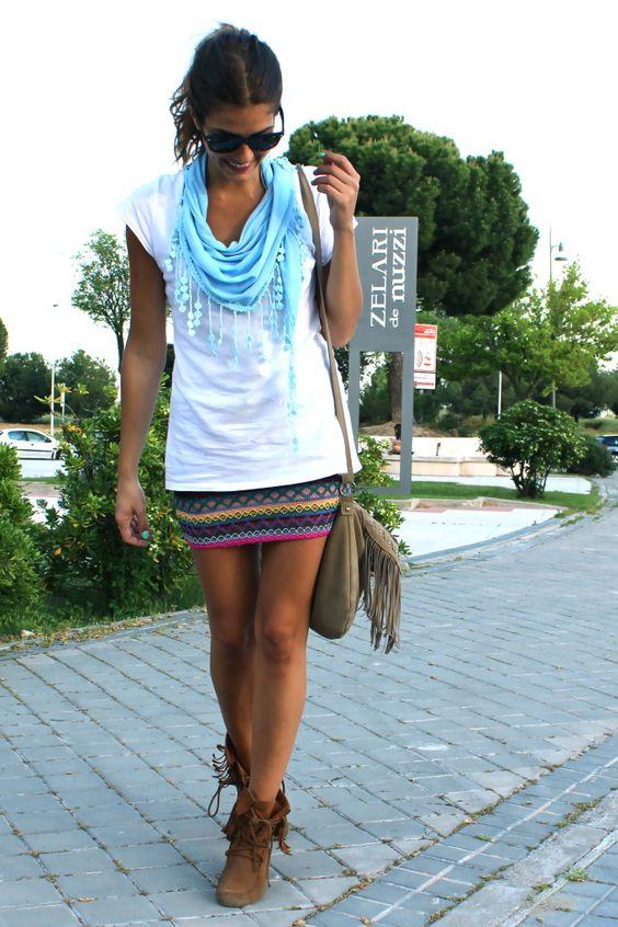 falda boho