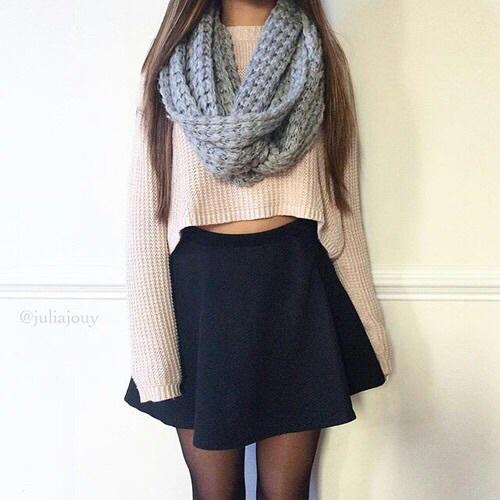 falda con sueter par mujer
