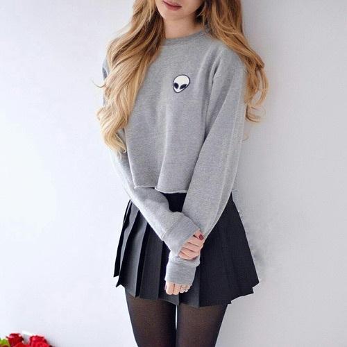 falda con sueter