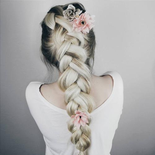 flores peinado