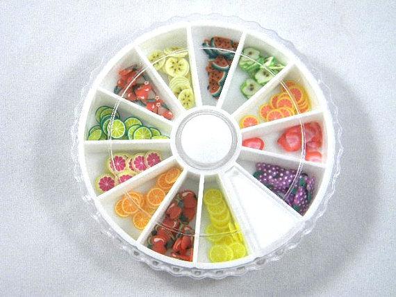 frutas uñas