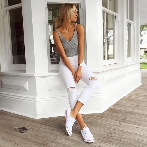 The 25 Best Women S Bottoms Ideas On Pinterest: Tips Para Usar Pantalones Blancos Sin Miedo