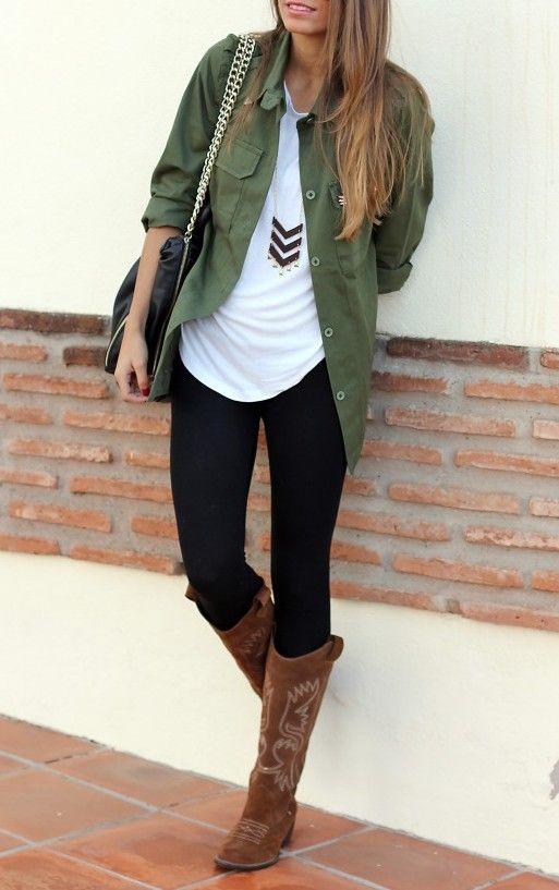 leggings-boots