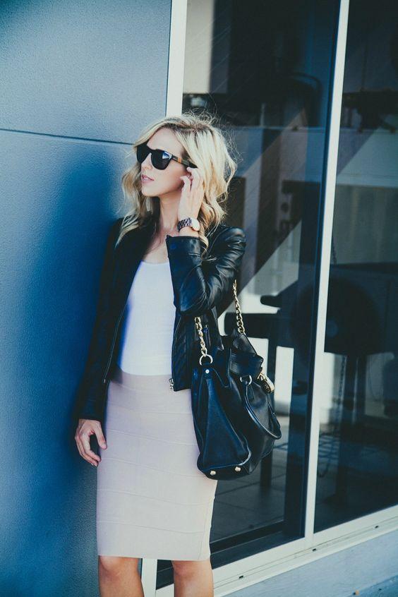 negro rosa falda