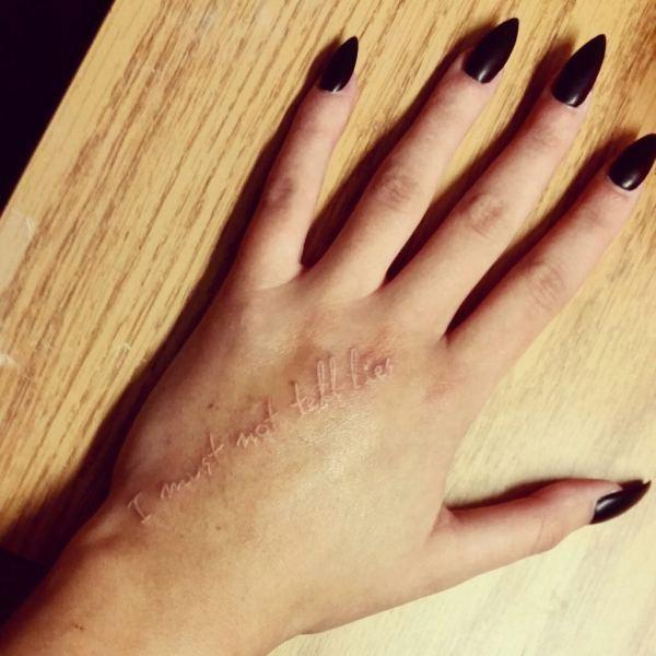 no debo decir mentiras tatuaje