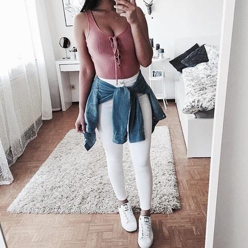pantalones con chamarra cintura