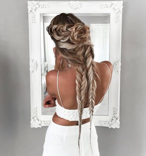 peinado largo