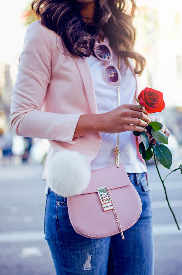 rosa bonito look