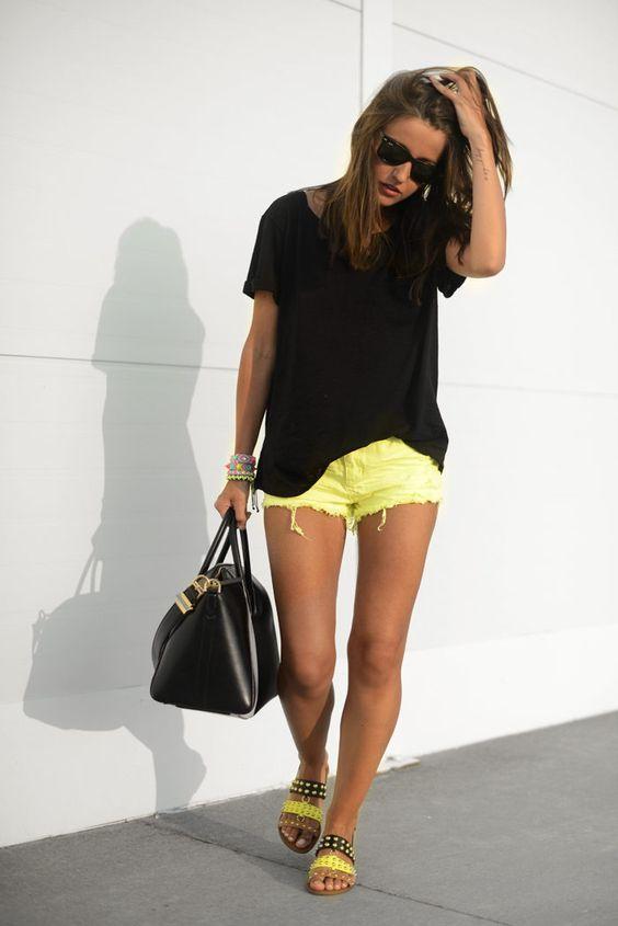 shorts amarills