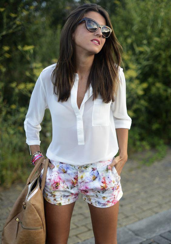 shorts colores primaverales
