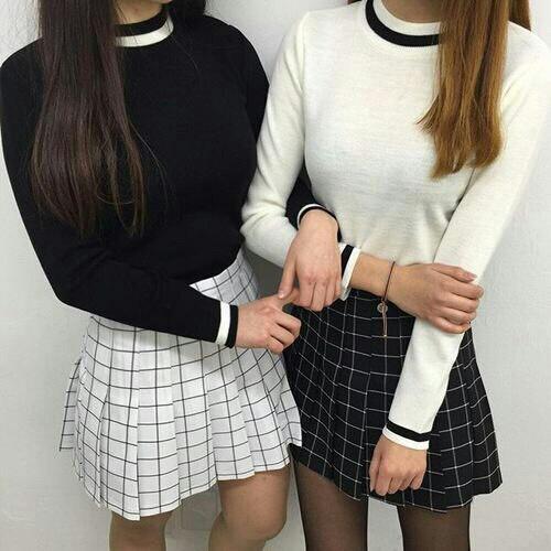 sueter falda rayas