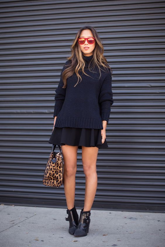 sueter y faldas