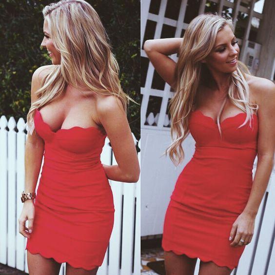 vestido lindo rojo
