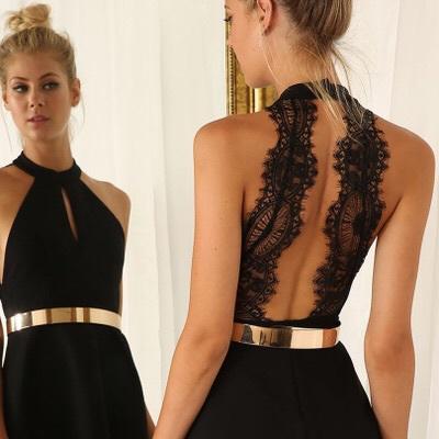 vestido negro cinturon
