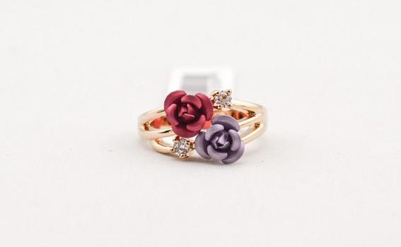 anillo de flores