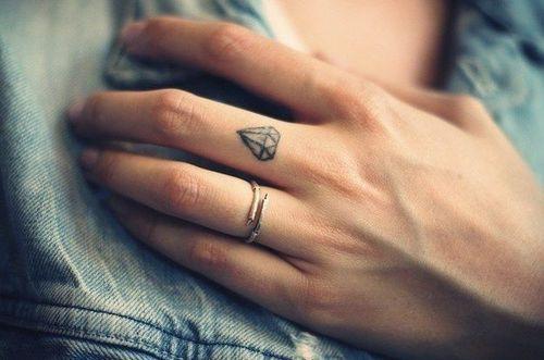 diamante tatuaje