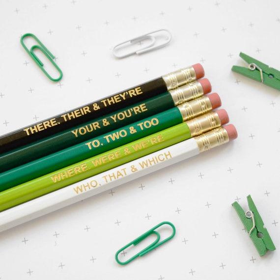 english pencils