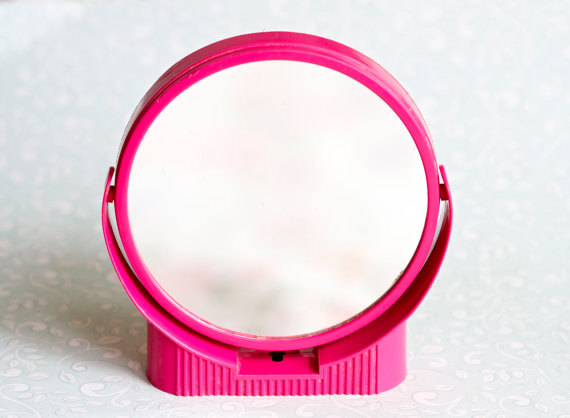 espejo rosa