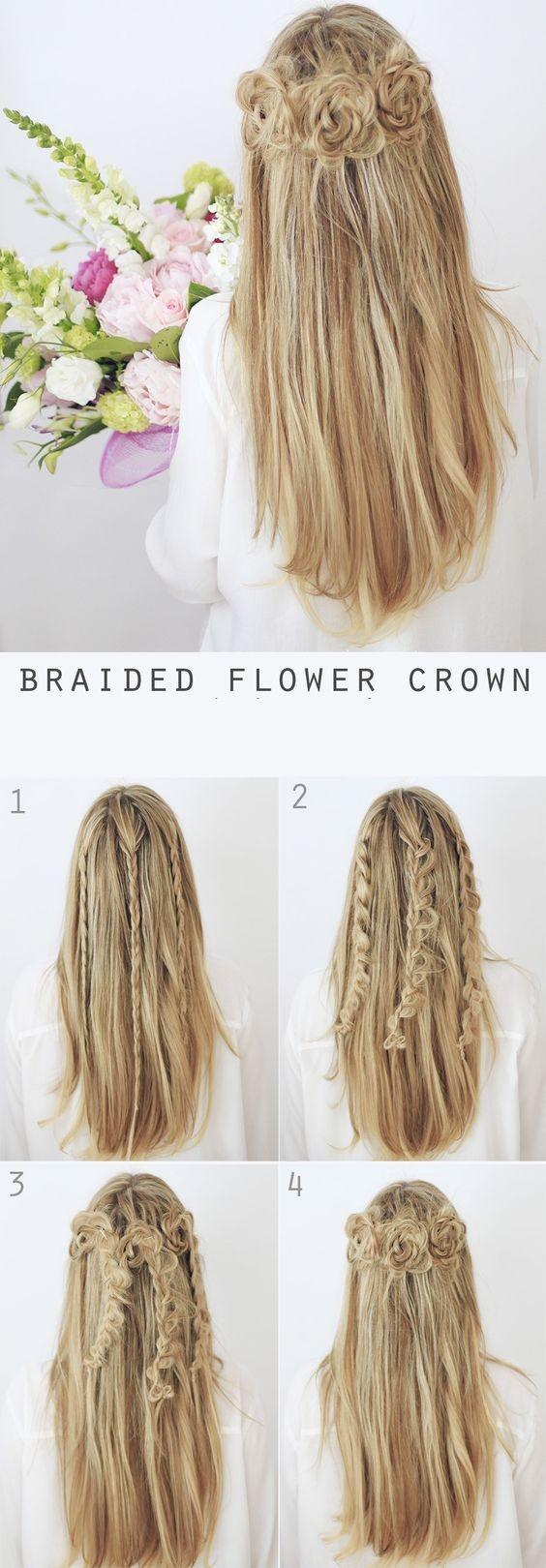 flowers -braids